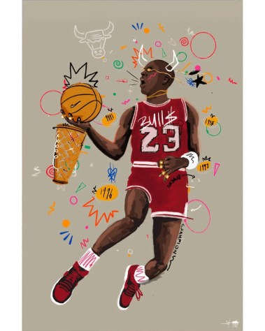 Big Michael Jordan Wall Art Chicago Bulls Basketball Legend Home Decor