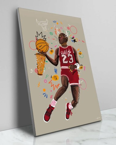 Oversized Michael Jordan Wall Art Chicago Bulls Basketball Legend Home Decor