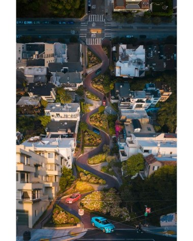 Giant Lombard Street San Francisco CaliforniaWall Art Inception Urban Photography Ivan Wong