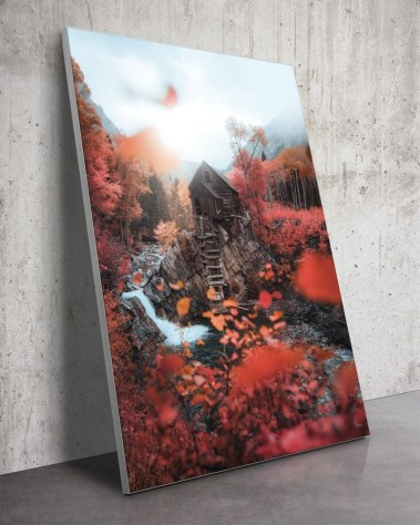 Huge Crystal Mill Colorado Nature Wall Art Autumn Photography Ivan Wong