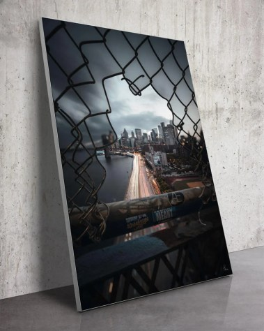 Big Manhattan Bridge Wall Art New York NY Fence Urban Photography Ivan Wong