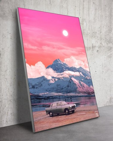 Big Surreal Vaporwave Retro Collage Wall art for Home Decor by Yagedan