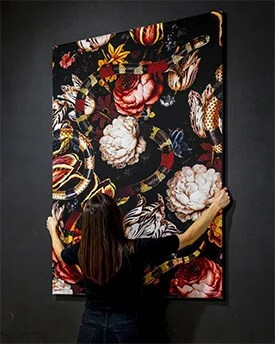 big wall decor interchangeable fabric material artwork artfab wall art