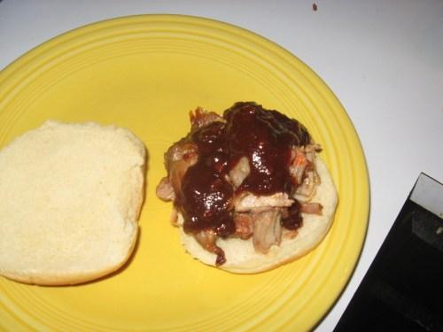 Rib Trimming Sandwich using Hak's Chipotle Bourbon BBQ Sauce