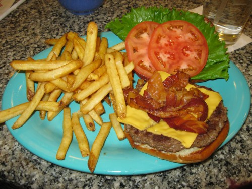 Bacon Cheeseburger & Fries from Beaches and Cream