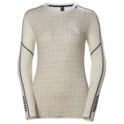 Helly Hansen Womens Hh Lifa Merino Graphic Crew Longsleeve Baselayer