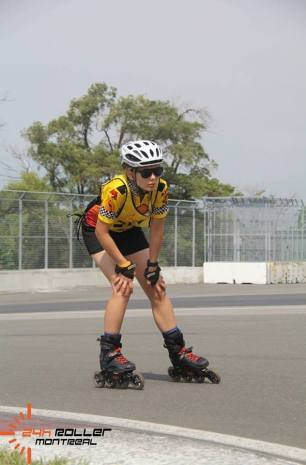 Teshia during the 24h Roller Montréal Race