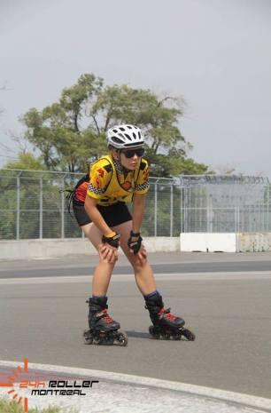Teshia during the 24h Roller Montréal Race