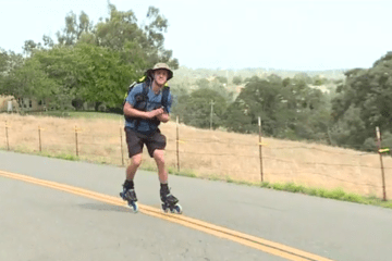 fox40.com: Man Starts 4,200-Mile Rollerblading Adventure To Help Kids