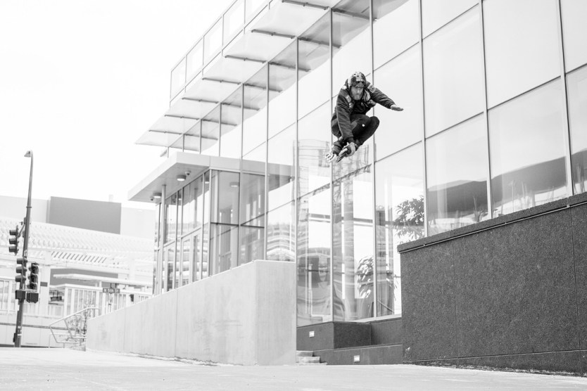 Caleb Smith Ledge roll to gap photo by Mike Lufholm