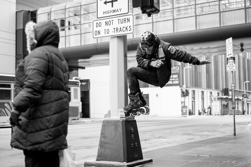 Caleb Smith with a toe tap photo by mike lufholm