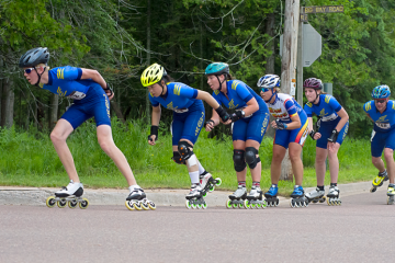 eastsidereviewnews.com: Twin Cities Skaters Compete in Apostle Island Inline Marathon