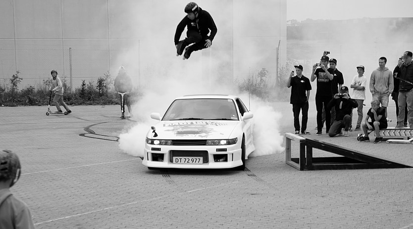 show at skatepro - jumped the nissan skyline