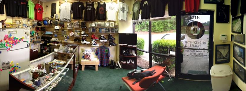 Oak City Skate Shop Interior