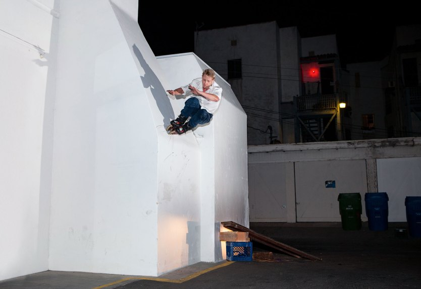 Sam Houston wallride. Photo by Jeff Linett