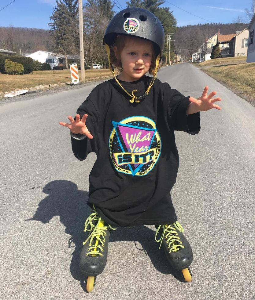 Cameron's son rocking the WYII? shirts.