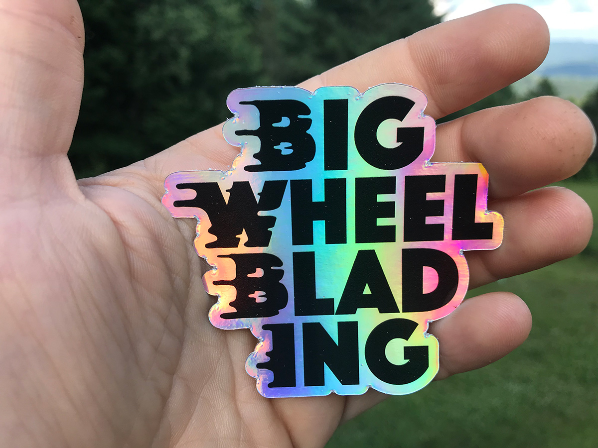 Purchase a Limited Edition Holographic Big Wheel Blading Sticker