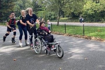 Wheels and Wheelchairs: Inline Skaters Sharing the Thrill and Joy of Speed on Wheels