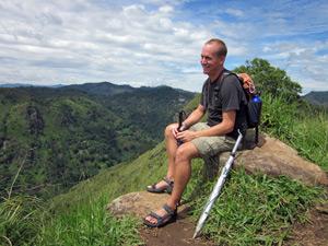 On top of Little Adam's Peak, Sri Lanka