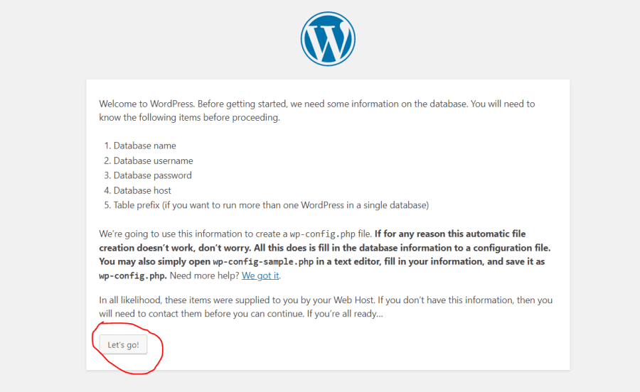 lets go wordpress
