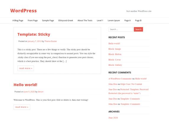Brisko WordPress theme