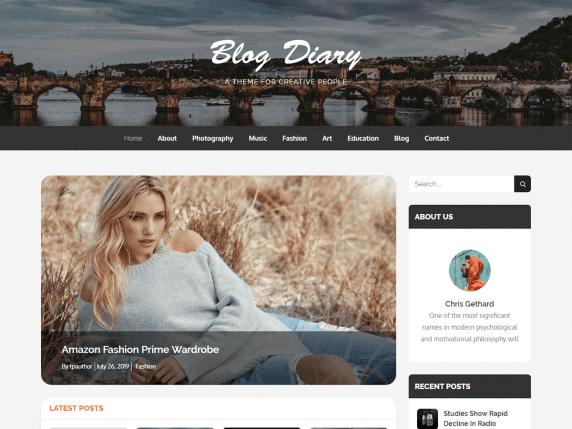 blogdiary wordpress website