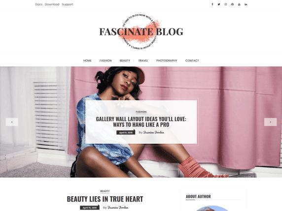 fascinate blog wordpress theme