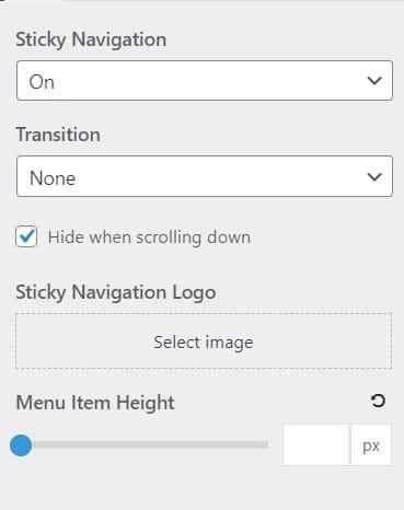 sticky navigation gp plugin