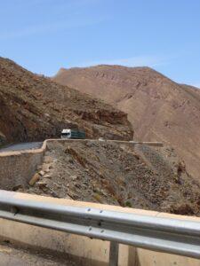 Crazy winding switchbacks through the Atlas Mountains