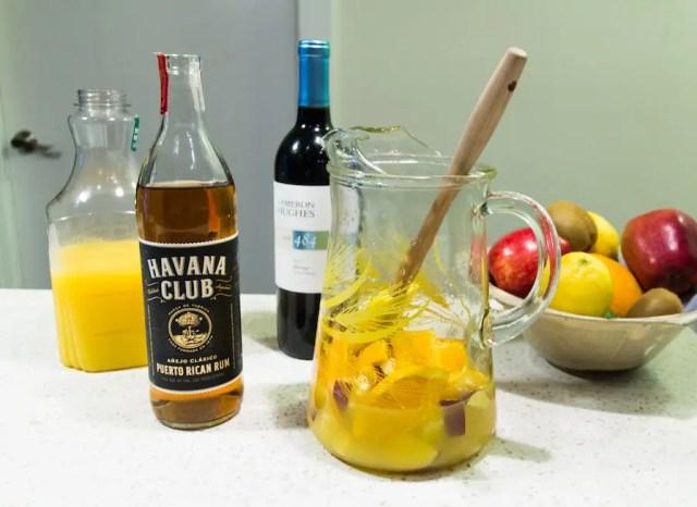 Sangria recipe with rum
