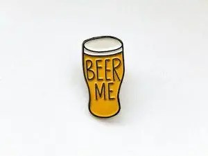 beer enamel pin