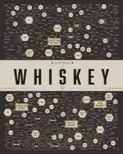 whiskey infographic poster