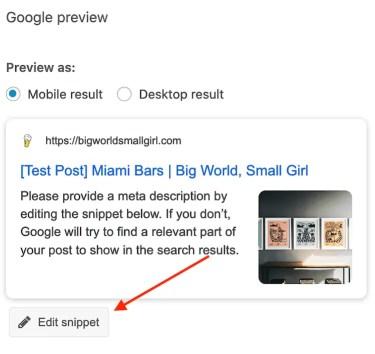 yoast seo google preview