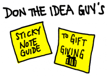 yellow sticky guide to gift giving