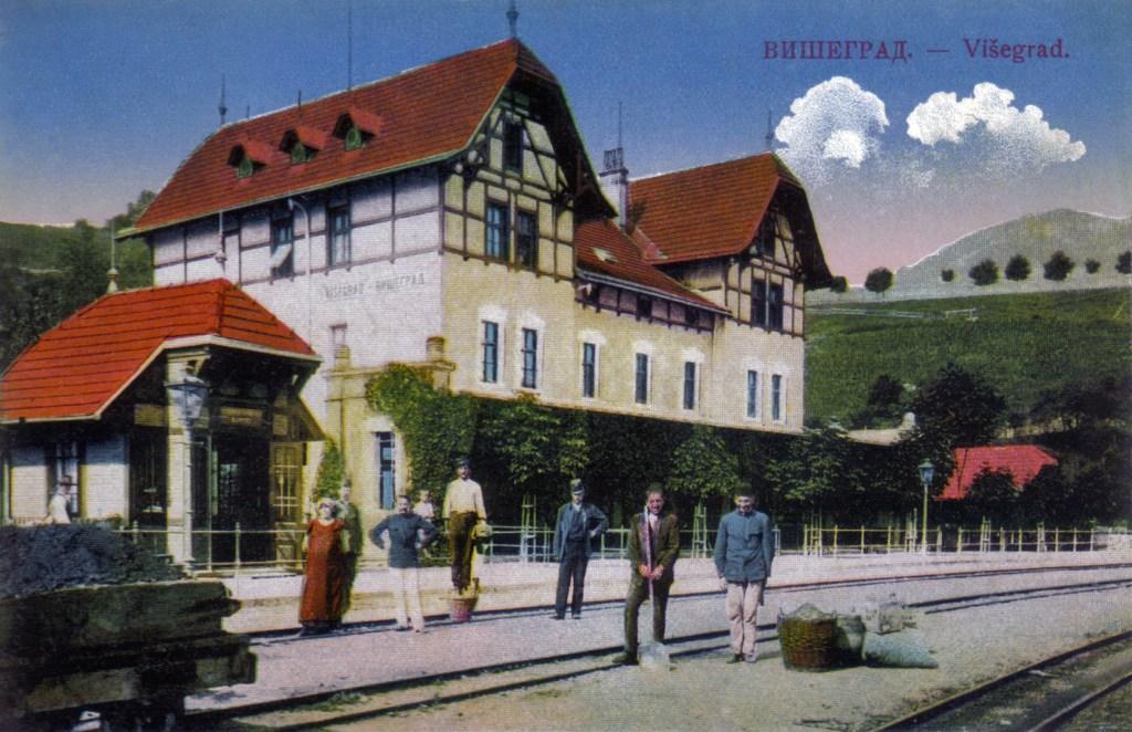 Станция Вишеград в начале XX-го века. Фото: Josef Schreiber' Nachf. Heinrich & M. Kucher, public domain