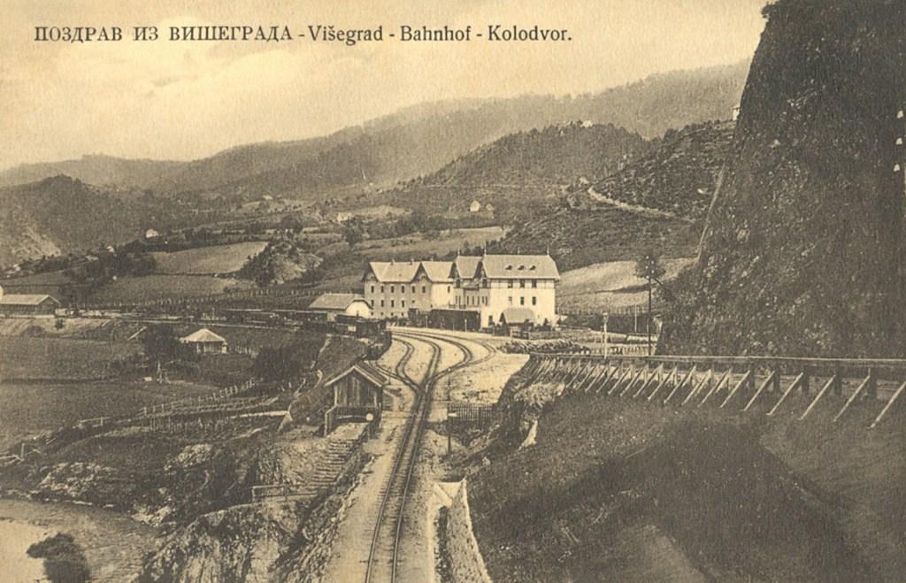 Вишеградская станция в начале XX века. Фото: C.-S. Nr. 880. Postkartenverlag Cappon, public domain