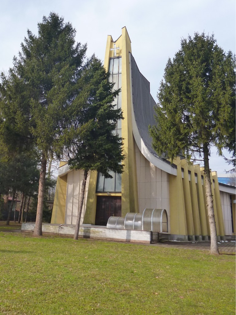 Церковь оригинальной архитектуры в Баня Луке. Фото: Елена Арсениевич, CC BY-SA 3.0