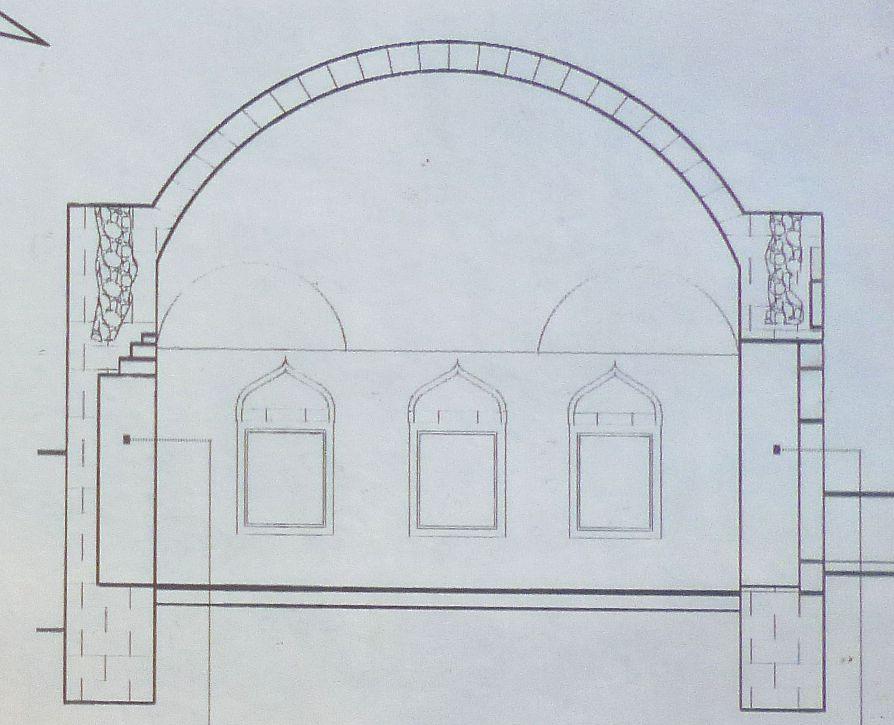 Диздарева мечеть в разрезе. Фото: Елена Арсениевич, CC BY-SA 3.0