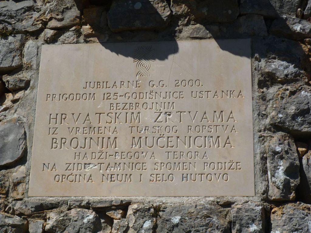 Памятная табличка жертвам османского террора. Фото: Елена Арсениевич, CC BY-SA 3.0