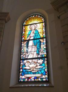 Витраж «Сердце Марии». Фото: Елена Арсениевич, CC BY-SA 3.0