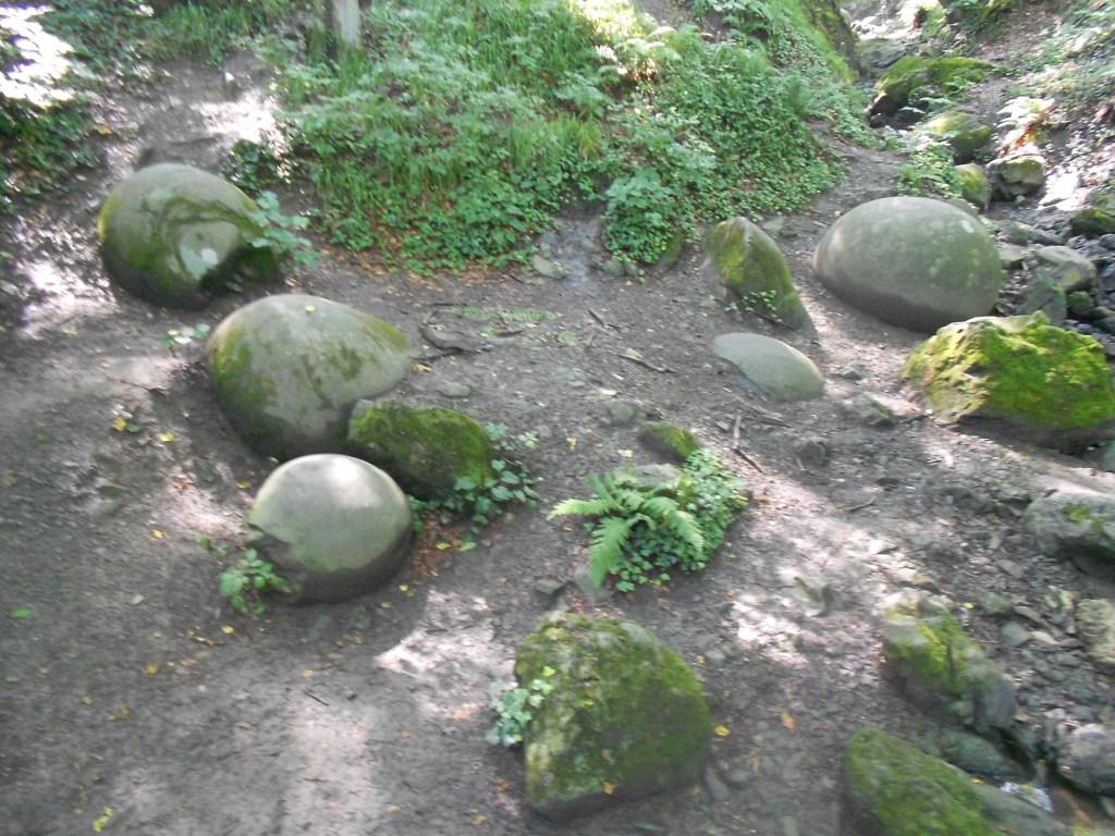 Россыпь каменных шаров и обломков. Фото: Елена Арсениевич, CC BY-SA 3.0