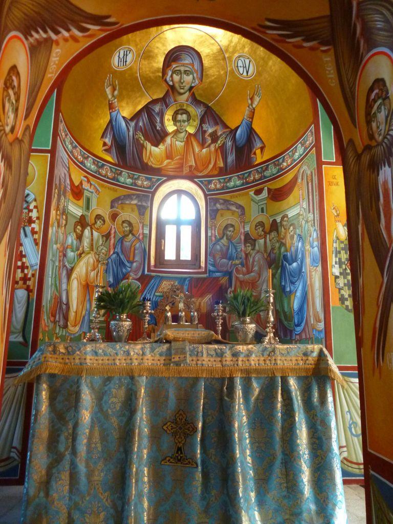Фрагмент росписей церкви, Богоматерь Оранта. Фото: Елена Арсениевич, CC BY-SA 3.0