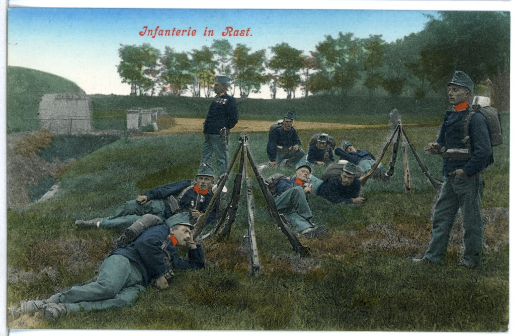 Австрийские солдаты. Brück & Sohn Kunstverlag Meißen, CC BY-SA 1.0