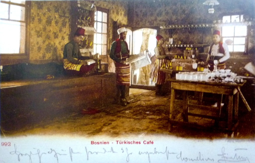 Боснийская кафана. Автор фото неизвестен, public domain