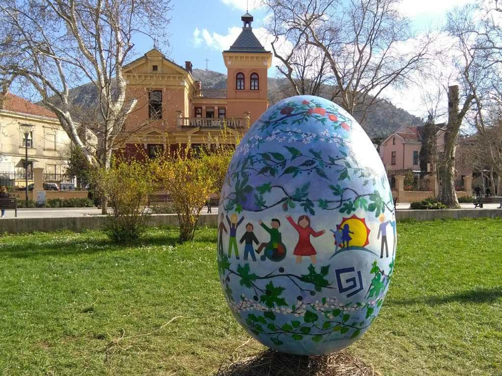Пасхальное яйцо в Мостаре. Фото: Елена Арсениевич, CC BY-SA 3.0