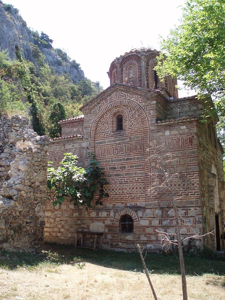 Монастырь Заум на Охридском озере. Фото: Brams, public domain