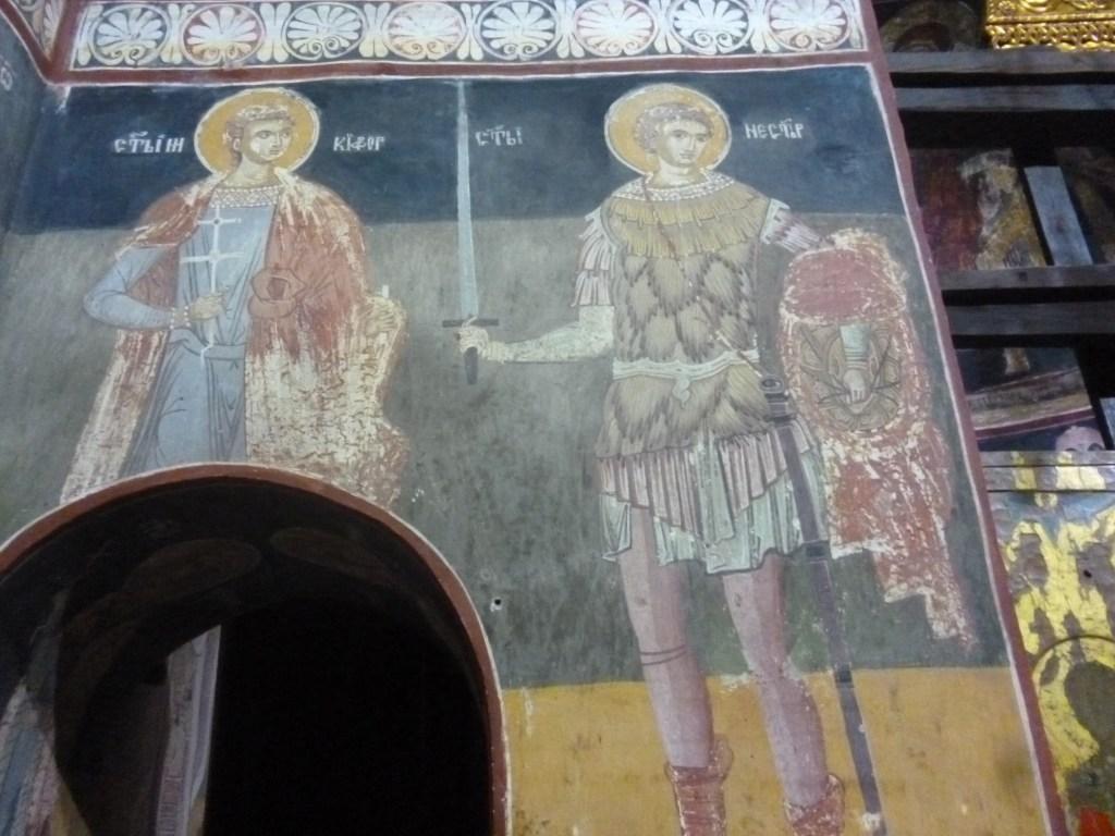 Росписи в монастыре Ловница, 15-й век. Фотографировать со вспышкой запрещено. Фото: Елена Арсениевич, CC BY-SA 3.0