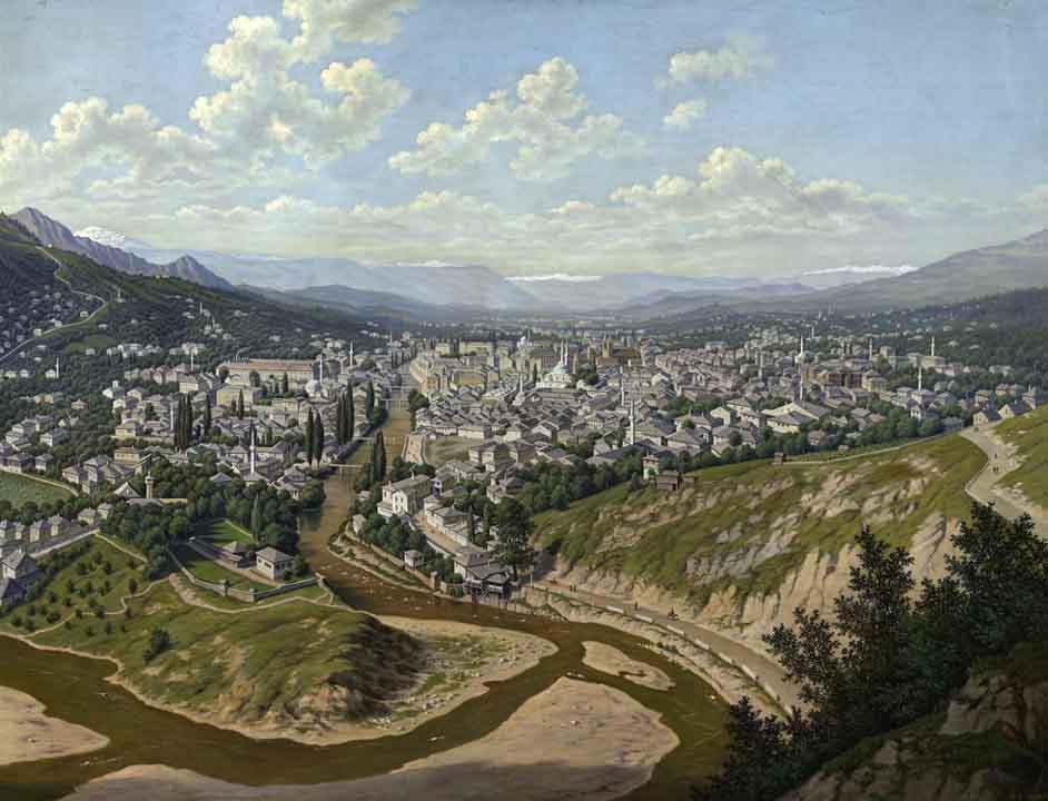Сараево в 1893 году. Hubert Sattler, public domain