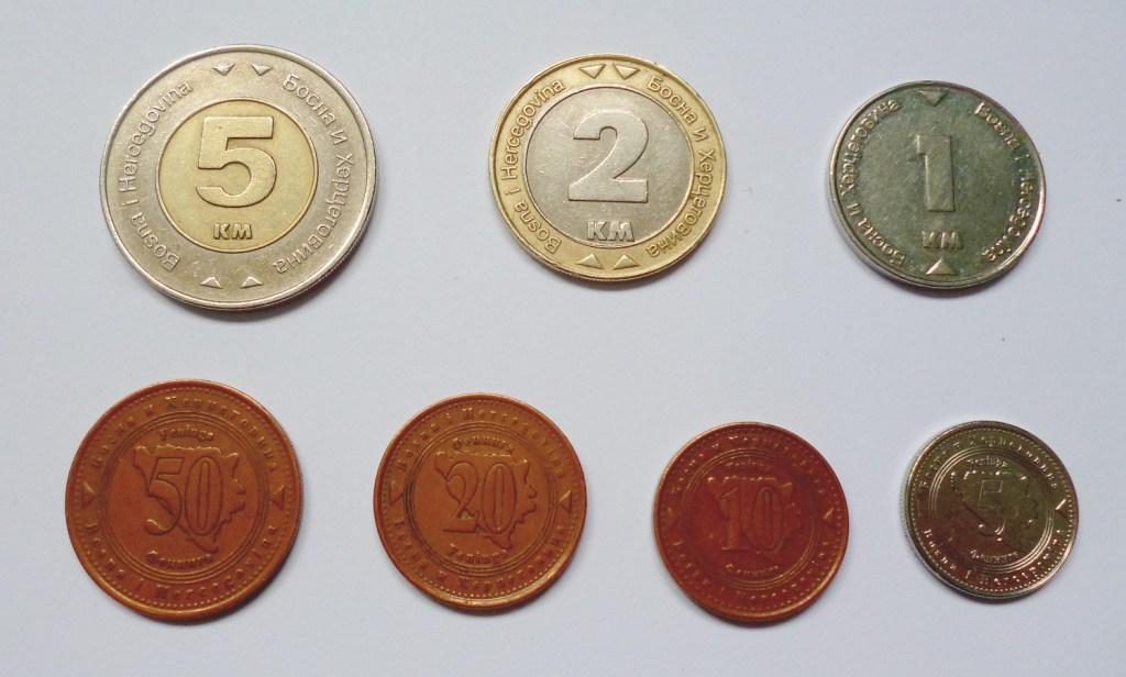 Монеты Боснии и Герцеговины. Фото: Елена Арсениевич, CC BY-SA 3.0