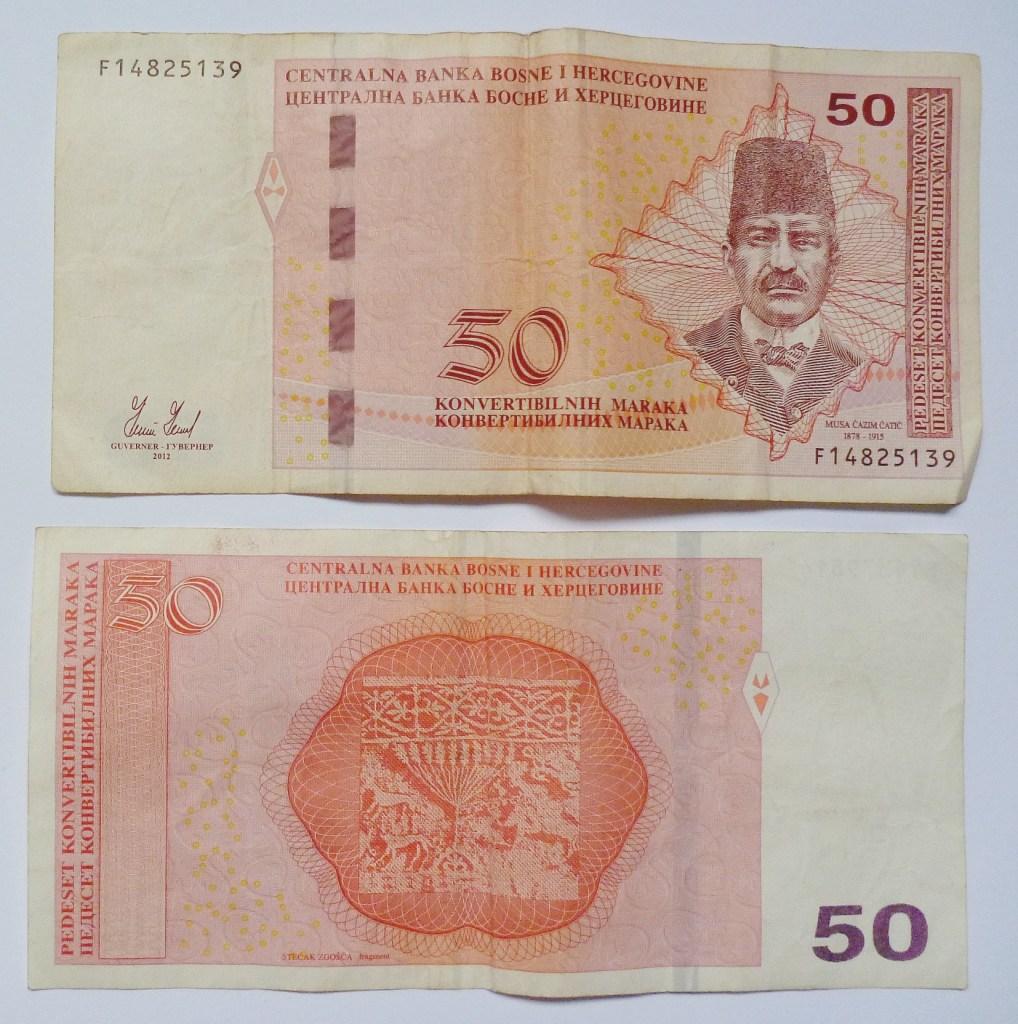 50 конвертируемых марок (около 25 евро). Фото: Елена Арсениевич, CC BY-SA 3.0